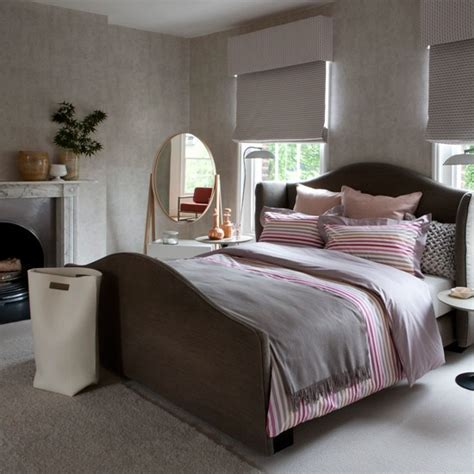 pink and grey bedroom decorating ideas traditional