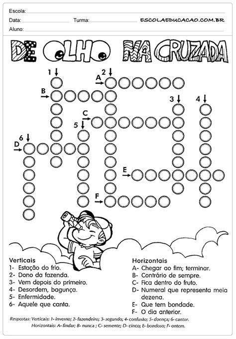 Atividades de Português 4 ano para imprimir - Escola Educação