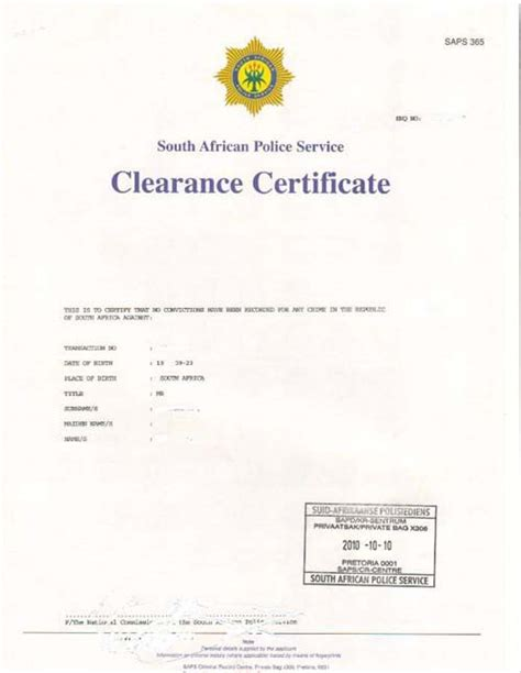 immigration clearance letter apply for a clearance certificate savisas