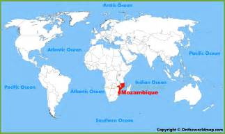 world map location mozambique location on the world map