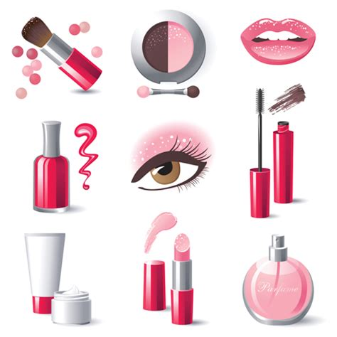 creative cosmetics and makeup vector icons over millions