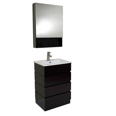 espresso bathroom medicine cabinet fresca fvn6124es amato 24 inch espresso modern bathroom
