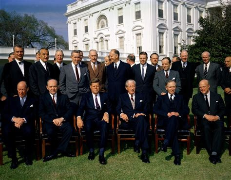 Cabinet Officers by Kn C17422 President F Kennedy And Prime Minister Of
