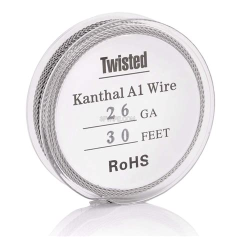 Premium Twisted Kanthal A1 Wire 24 X 2 Ga Awg Rohs Certified authentic kanthal a1 26 awg x 2 0 4mm twisted heating wire for rba