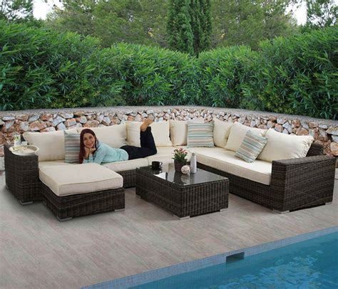 polyrattan sofa luxus poly rattan sofa garnitur melilla lounge set