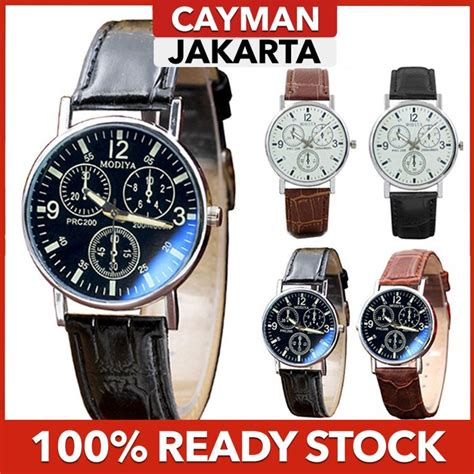 cayman modiya jam tangan pria fashion casual jam tangan