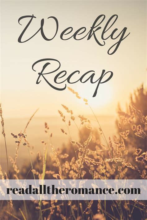 weekly recap weekly recap read all my books to me read all