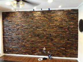 Interior Ledger Stone Wall Application Rustic Los » Modern Home Design