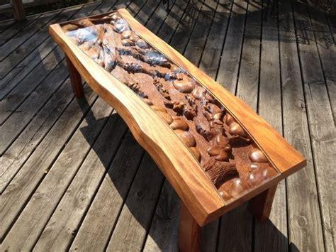 handmade custom coffee table  blossom tree scene hand