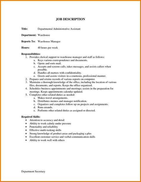 6 office assistant job description resume assistant