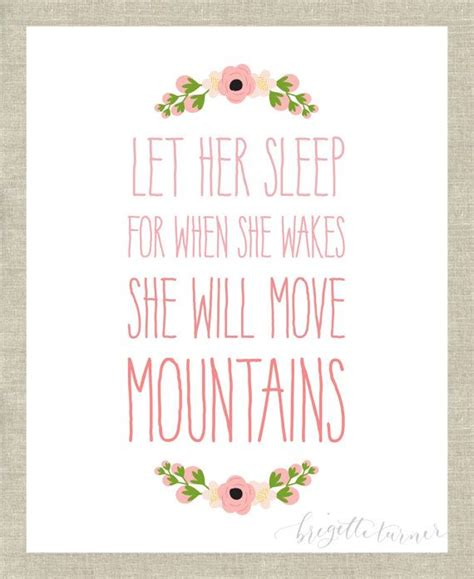 printable quotes for baby room wall art print girls room nursery let her sleep