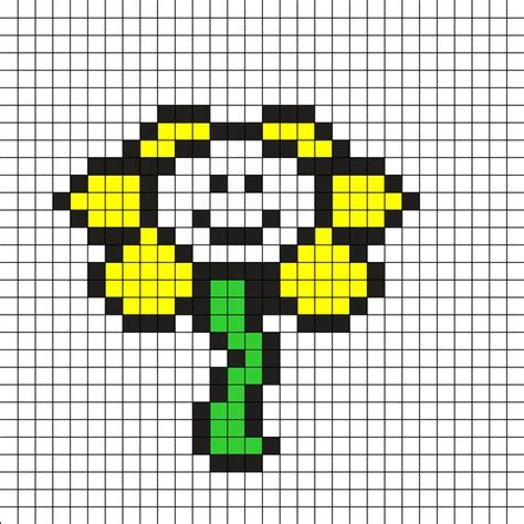 flowey the flower by theleafbladedwarrior on kandi patterns undertale cross stitch