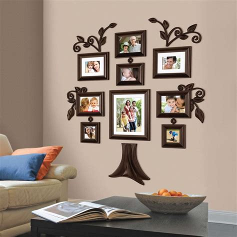 decoration piece new 9 piece family tree wall photo frame set picture