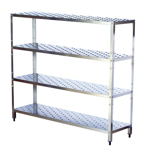 rack inox metal shelves for the archive and storage