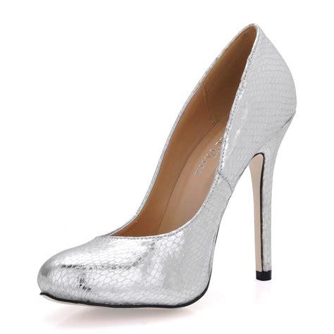 Xoxo Heels Silver 12cm silver stiletto heels closed toe prom evening shoes 10531810 pumps dresswe