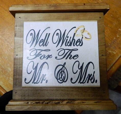 Wedding Box Handmade by Wooden Wishing Well Wedding Card Box Engagement Quality