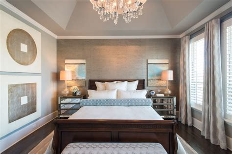 Gray Bedroom Tray Ceiling Contemporary Stands Bedroom Transitional With