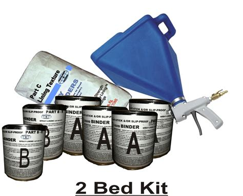 bed liner spray kit spray on truck bed liner kit 2 beds 125mils free gun ebay