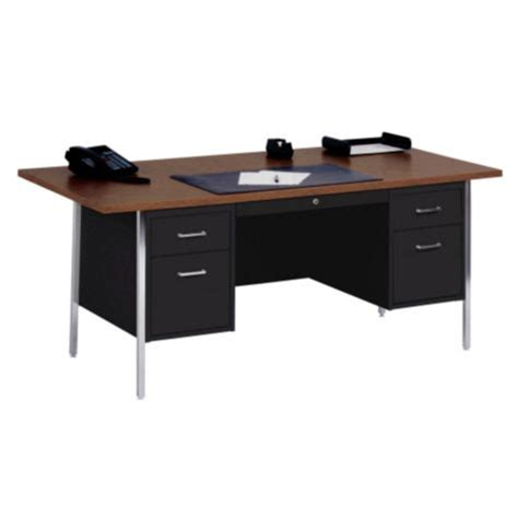 72 x 36 desk steel double pedestal desk 72 x 36 san 30084