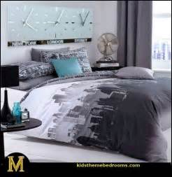 travel themed bedroom catherine lansfield city scape travel themed bedroom