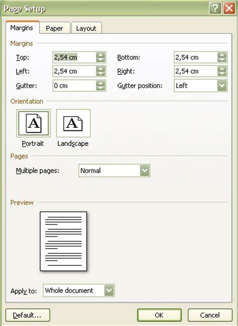 cara membuat kop surat di atas top margin cara mengatur halaman microsoft office word 2007 kolom