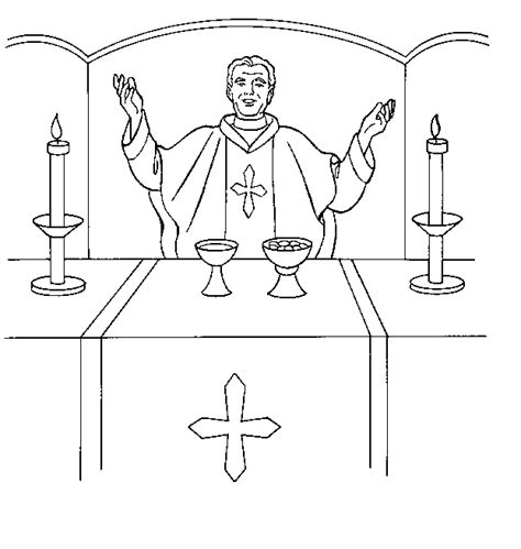 Free Coloring Pages Of Catholic Priest Catholic Coloring Page