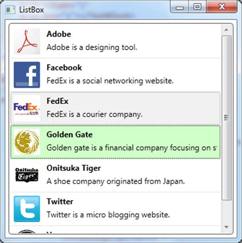 Wpf Listbox Template by Codes Directory Wpf Listbox Style