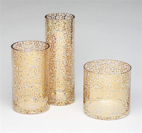 Gold Vases by Gold Triangles Glass Vases Vases By