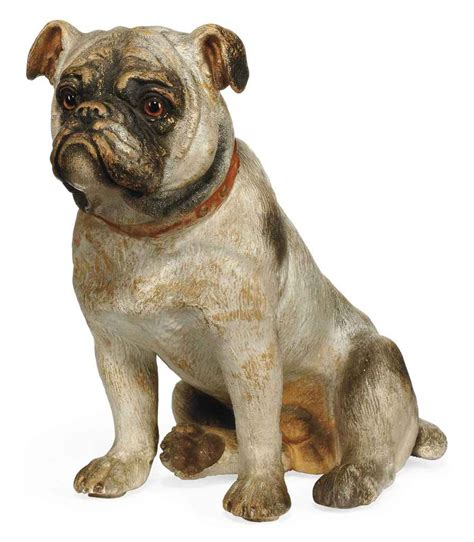 early pugs an austrian painted earthenware model of a pug early 20th century christie s