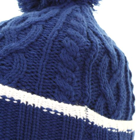 mens cable knit beanie mizuno golf 2015 mens cable knit bobble pom pom knitted