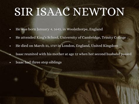 biography of isaac newton s most important facts sir isaac newton by caroline workley