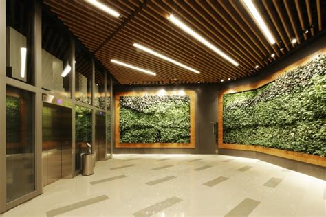 design concept nature green office lobby by 4n design architects hong kong