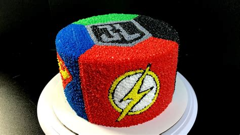 Justice League Flash And Another Heros Cake On Pinterest   Fondant   Fondant Cake Images