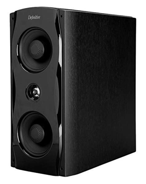 definitive technology sm65 bookshelf speaker black