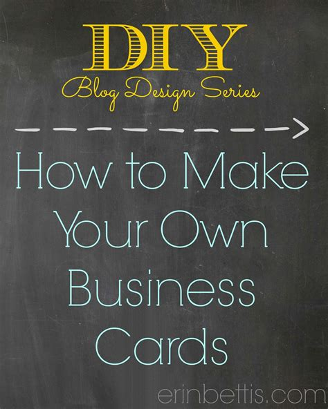 how to make business cards erin go hooah diy design series how to make