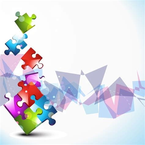 puzzle design elements vector colorful puzzle background vector free vector in