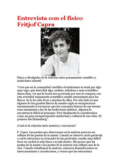 entrevista con el f 237 sico fritjof capra