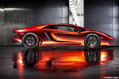 chrome lamborghini orange red chrome lamborghini aventador by print tech