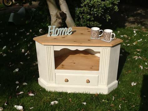 lovely shabby chic pine corner tv cabinet furniture