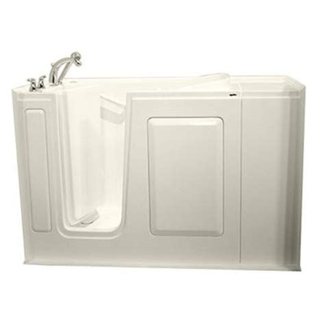 Walk In Bathtubs Home Depot by Safety Tubs Gelcoat 4 Ft Walk In Bathtub In Biscuit