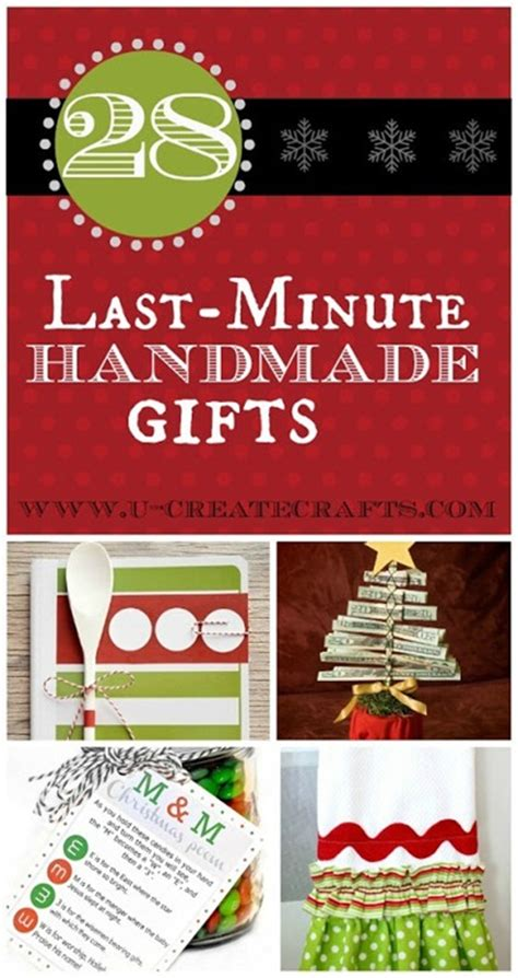 28 last minute handmade gifts u create