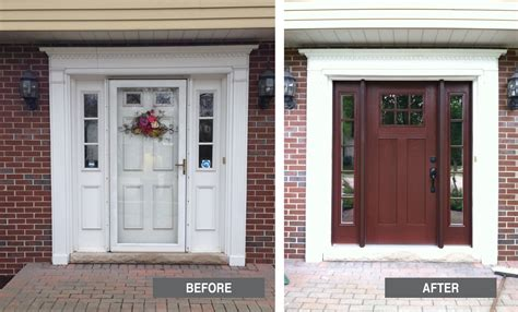 front door before and after doors great american exteriors