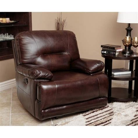 Abbyson Living Chair by Abbyson Living Power Reclining Leather Arm Chair In