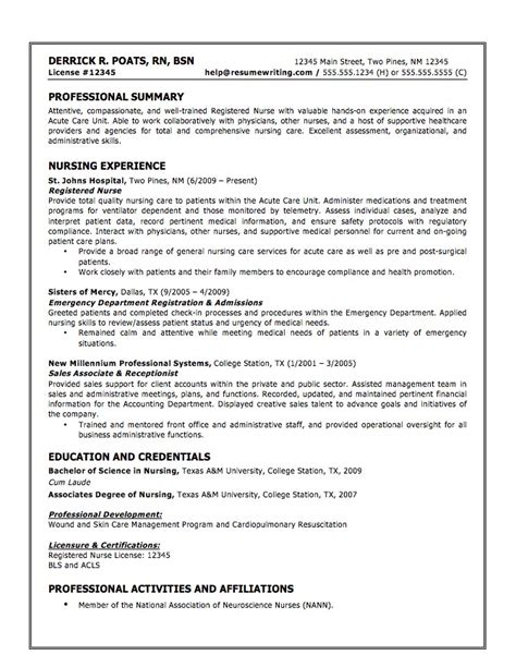 Resume Summary Exle Cna Cna Resume Exle Certified Nursing Assistant Resume
