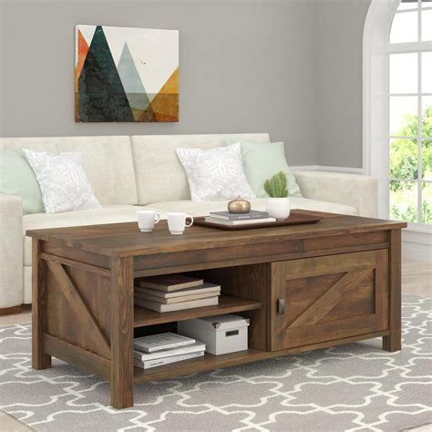 Pine Coffee Tables With Storage Altra Furniture Farmington Century Barn Pine Storage Coffee Table 5741215com The Home Depot