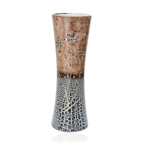 black and white pattern vase home decor black white and beige flower pattern vase with
