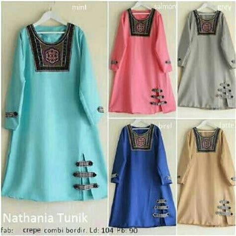 Tunik Atasan Blouse Wanita Baju Muslim Gretha Blouse model set models picture