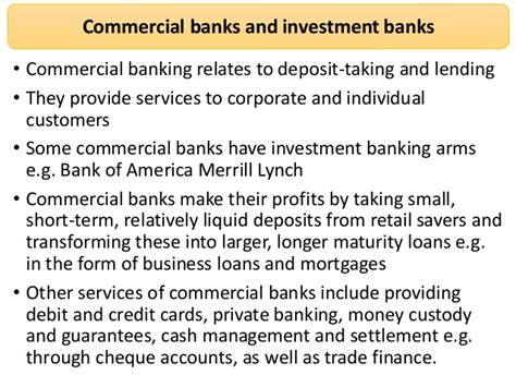 commercial bank and investment bank financial economics commercial banking