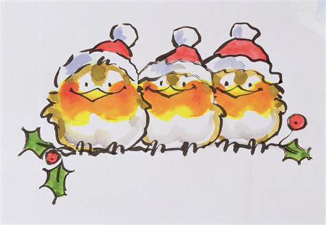 Bird Decor For Home christmas robins painting by diane matthes