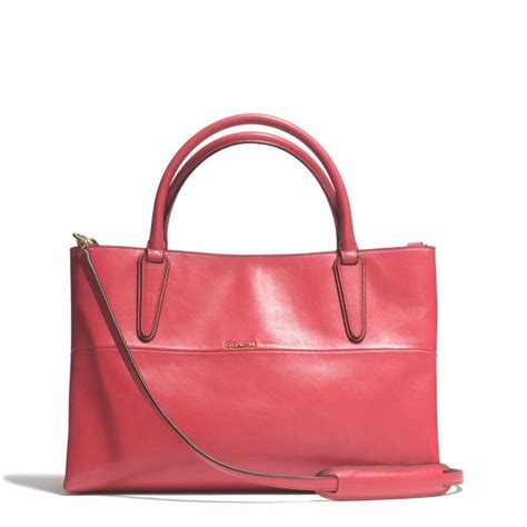 Donini Bag Nappa Leather coach soft borough bag in nappa leather in pink lyst